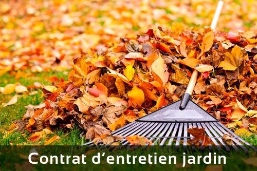 Contrat d'entretien jardin