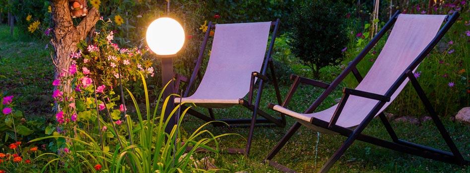 Eclairage de jardin au Luxembourg