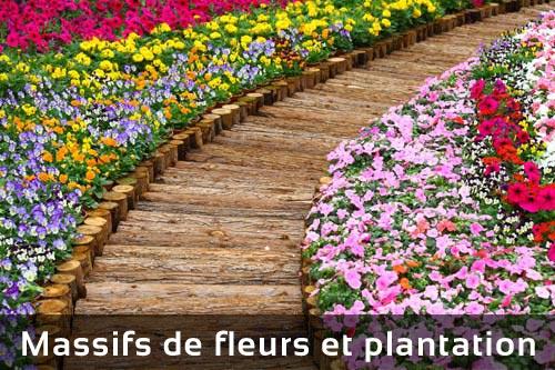 Massifs de fleurs et plantation